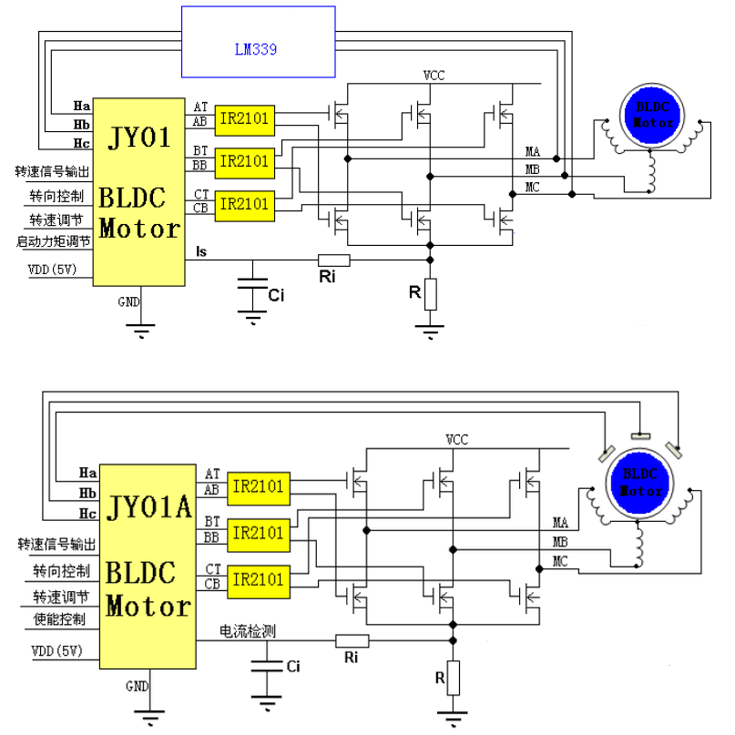 Low cost brushless motor drivers (BLDC) for DIY projects