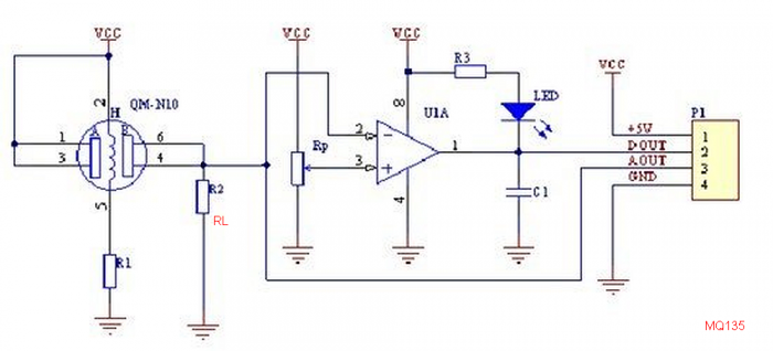TECHNICAL DATA MQ-135 GAS SENSOR - OLinuXino Arduino