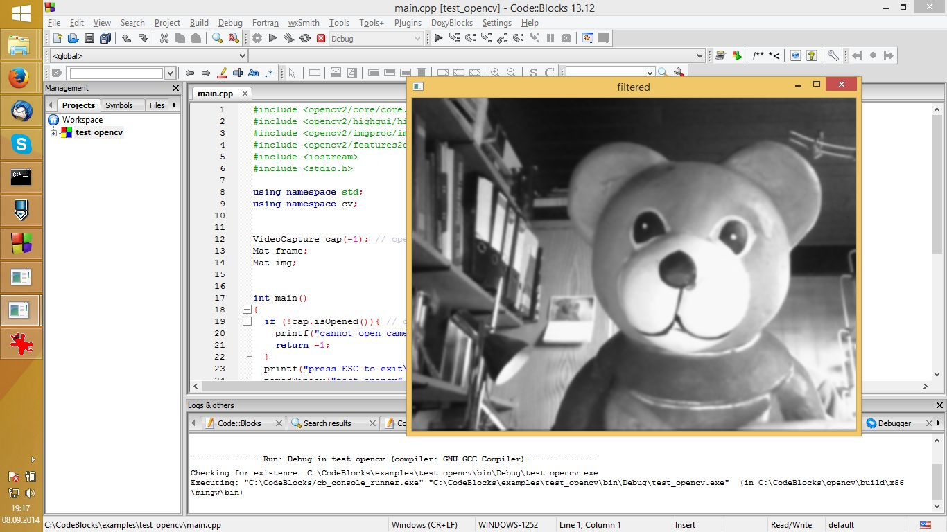 Opencv Get Up And Running Quickly Using Open Source C