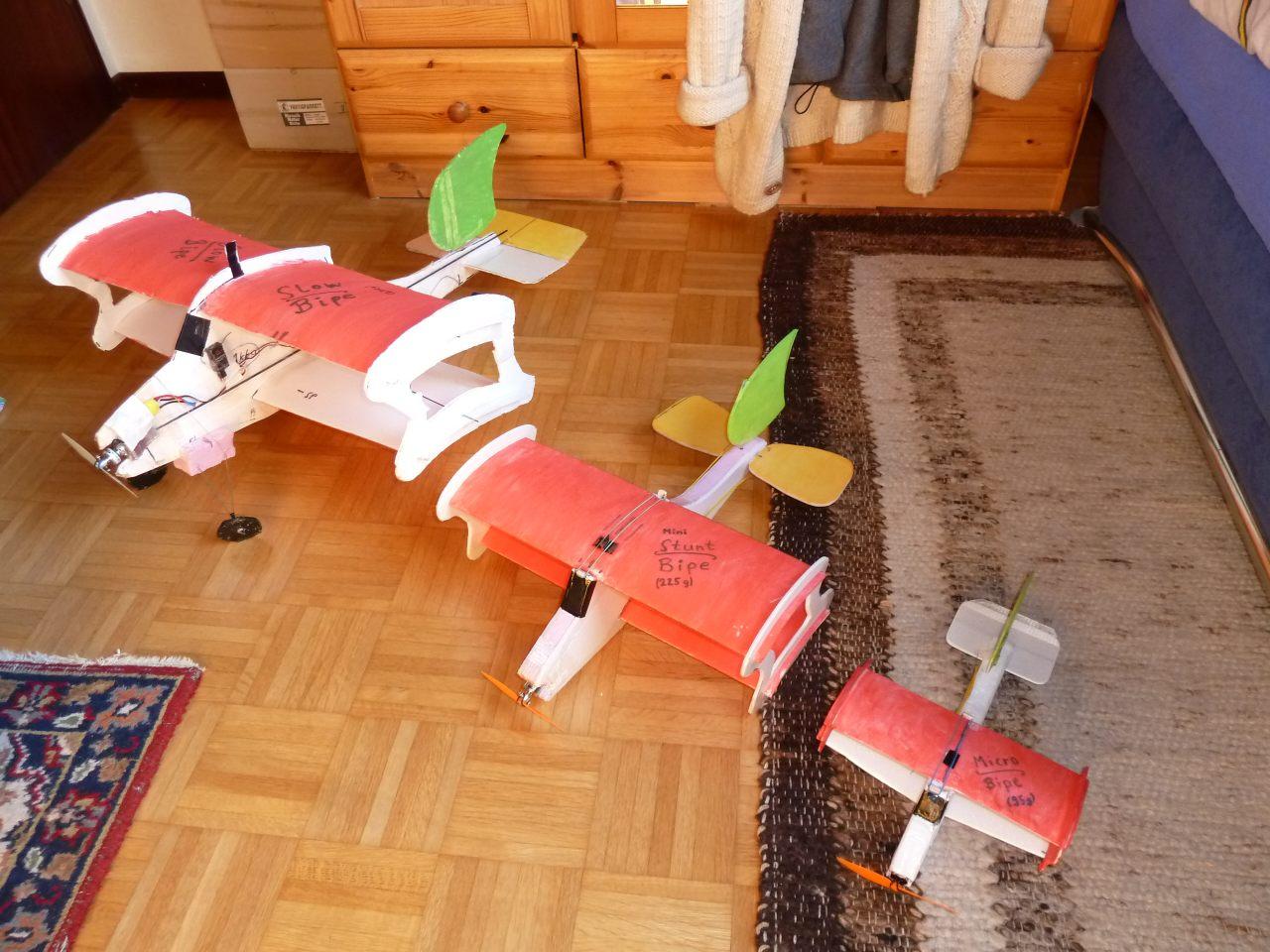 slow foam biplanes