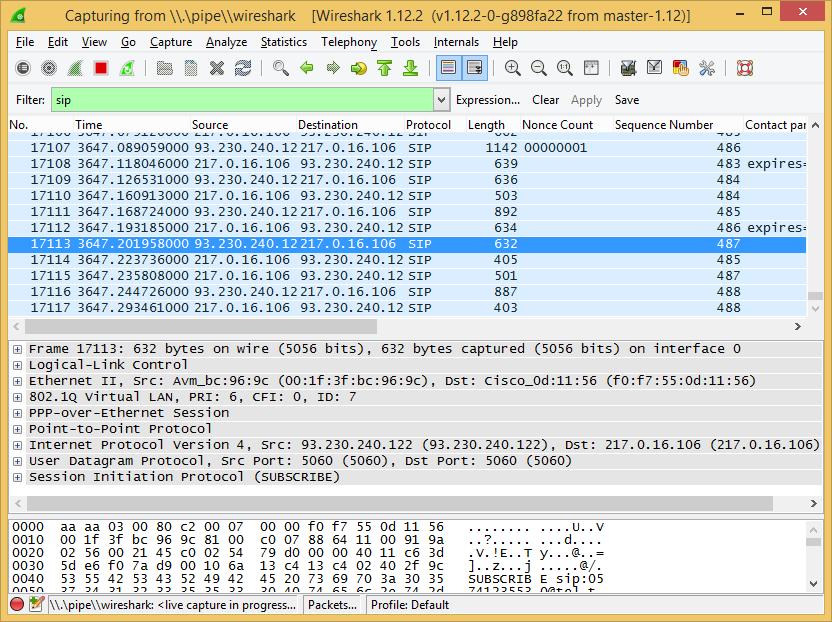 Dsl router diagnostics voip sip dect pots don 39 t worry be creative - Wireshark filter destination port ...